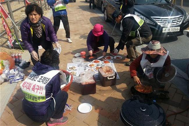 가로림만을 지키기위한 6일째 행진  폭행당한 도보행진단 2