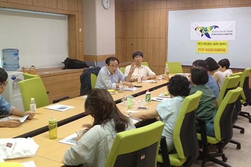 해양투기 자전거캠페인 인천 최대의 산업폐수 해양투기업체 CJ제일제당2