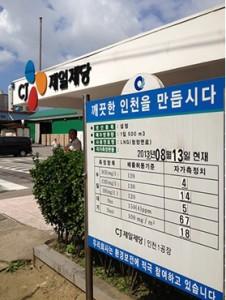 해양투기 자전거캠페인 인천 최대의 산업폐수 해양투기업체 CJ제일제당5