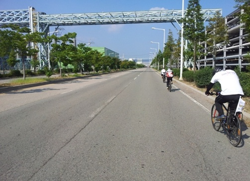 해양투기 자전거캠페인  7일차 드디어 만났다 해양투기 운반 선박5
