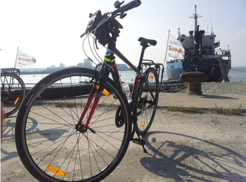 해양투기 자전거캠페인  7일차 드디어 만났다 해양투기 운반 선박8