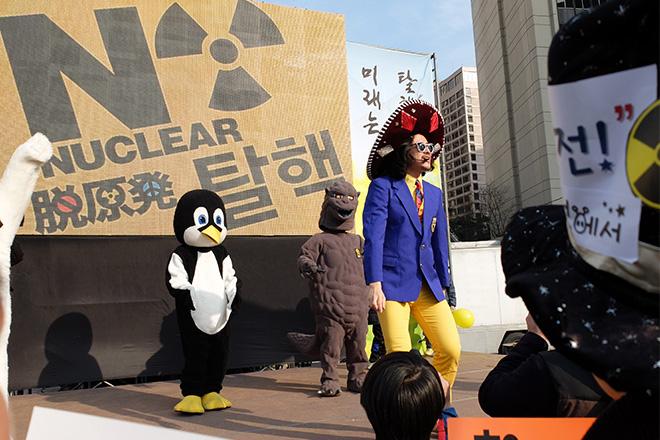 후쿠시마3주기  시청광장을 가득 채운 희망의 바람들7-1