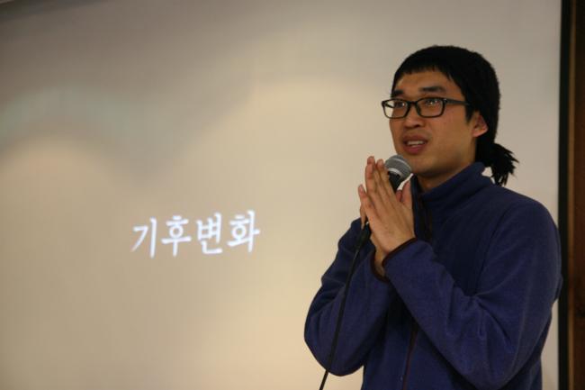 서울환경운동연합의 이정훈 활동가 ⓒ정대희