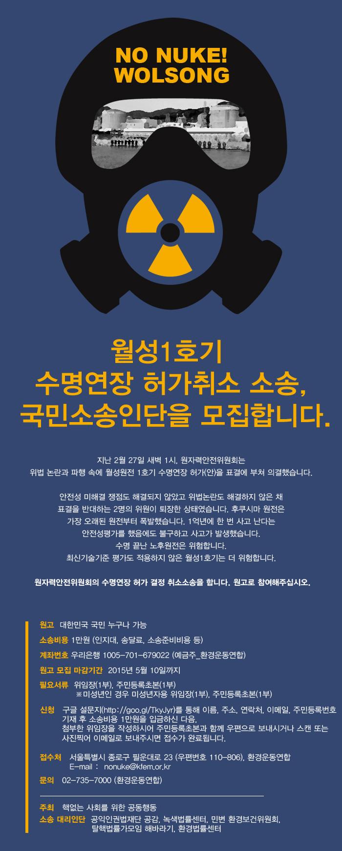 월성1호기 국민소송인단_050421