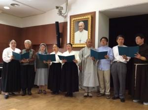 지리산에 위치한 지리산 종교연대의 중창단이 지리산을 부르고 있다. 참가자 모두에게 가장 감동을 준 순간이었다.(C) 기후변화대응 아시아시민사회 컨퍼런스 조직위원회