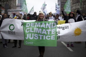 Demanding climate justice at the international climate talks © Luka Tomac