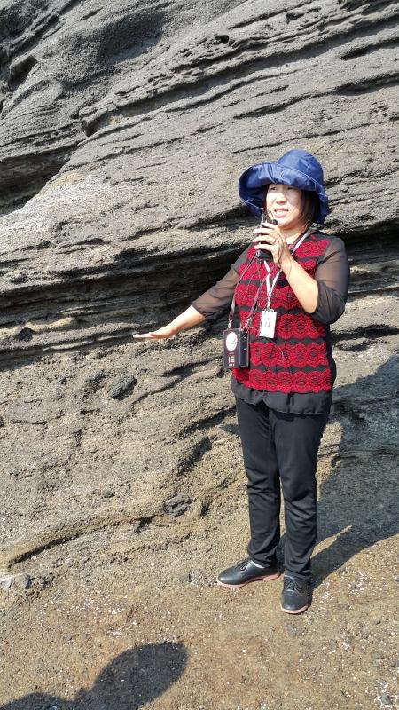 용머리해안 해수면상승치 설명