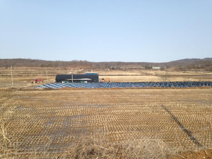 파주 백연리의 농경지 변화 ⓒ 환경연합 김현경