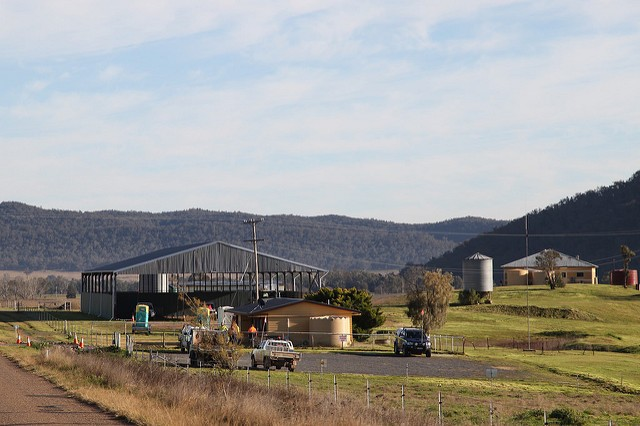 최상의 농지와 자연경관을 가진 호주 바이롱 밸리에서 한국전력이 탄광 개발을 추진 중이다. 사진은 한국전력의 현지 사무소 모습. 사진=Kate Ausburn