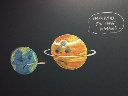 인간이 살고 있는 지구에 위로를...