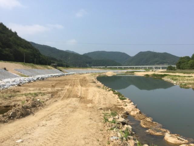 영주댐 하류 하천제방공사 ⓒ환경운동연합