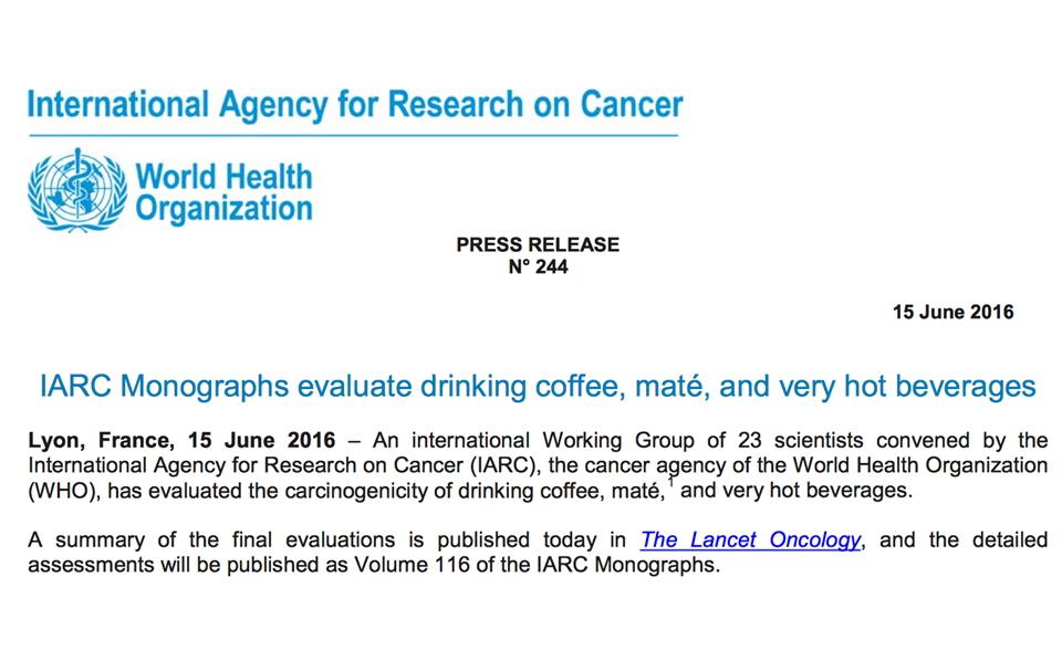 6월15일 IARC 보도자료