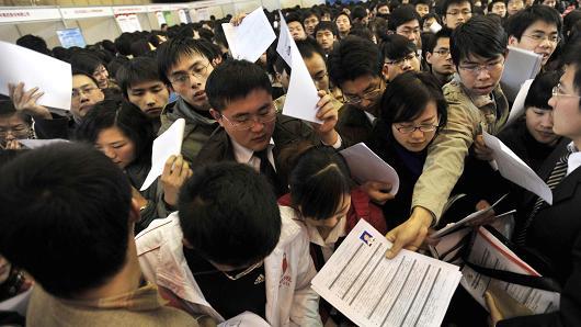 중국의 청년구직자들 Copyrightⓒ. 2014 CNBC