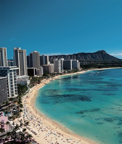 세계자연보전연맹(IUCN)이 주관하는 제6차 세계자연보전총회(WCC)가 9월 1일부터 11일까지 하와이에서 개최된다. 사진은 하와이 와이키키 해변.