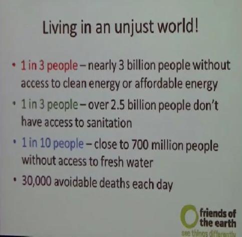 Livning in an unjust world!