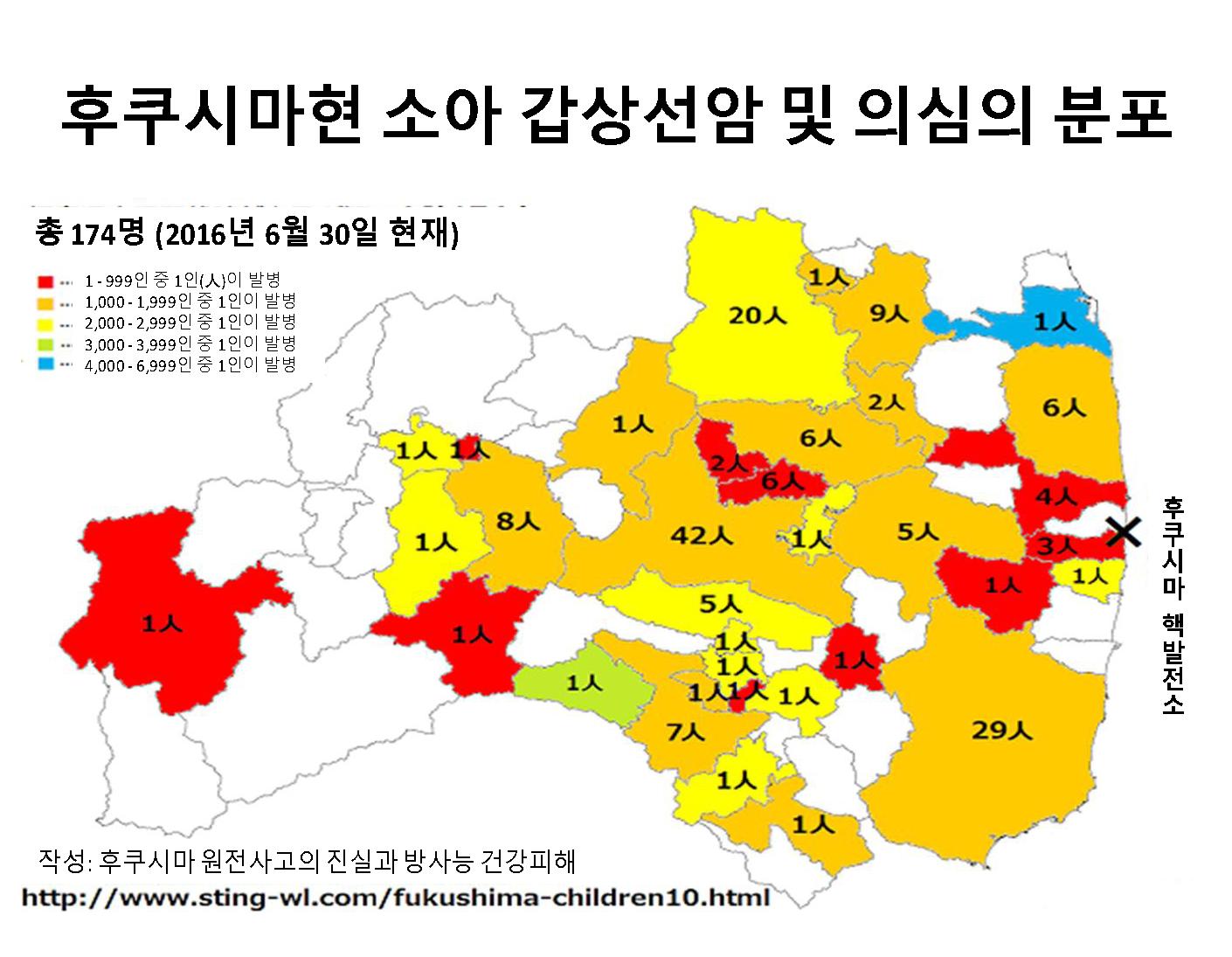 '후쿠시마 제1원전 사고 후 성인 갑상선암이 늘고 있다' 주간금요일 1097호