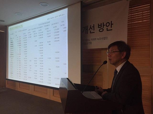 최동진 국토환경연구소 소장. 사진: 환경운동연합