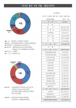 2016년 결산 재정보고