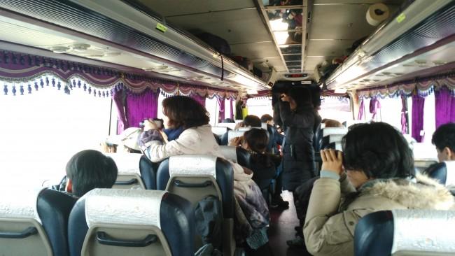 버스에서 재두루미 관찰