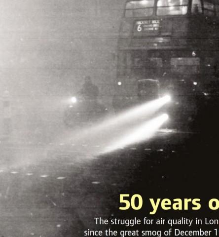 런던시에서 발생한 런던 스모그 50주년 책자 표지