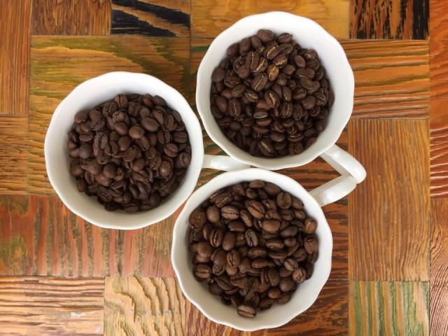 커피의 생김과 볶음 정도가 다르다.ⓒ장인커피