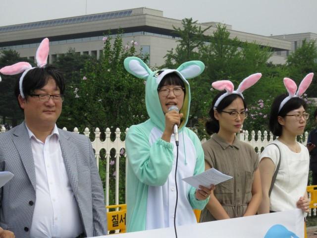 환경운동연합 물순환팀 신재은 팀장이 발언하고 있다. ©환경운동연합