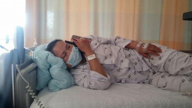 2017년 8월8일 현재 신촌세브란스 병원에 입원중인 가습기살균제 피해자 안은주씨
