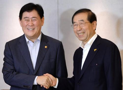 최경환·박원순 조찬회동, 한강종합개발 공동 TF ⓒ세계일보