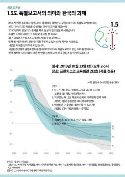 [토론회] 지구온난화 1.5℃ 의미와 한국의 과제(10월23일)