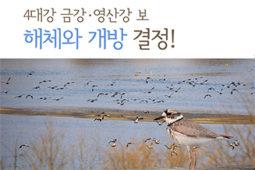 유역물관리위윈회, 금강·영산강 보 해체와 개방 결정!