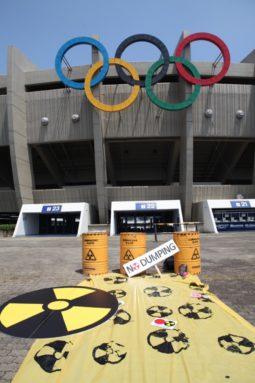 [퍼포먼스]7월23일 도쿄올림픽 개막일, 후쿠시마 원전오염수 해양방류 반대 및 코로나 창궐속 올림픽 강행
