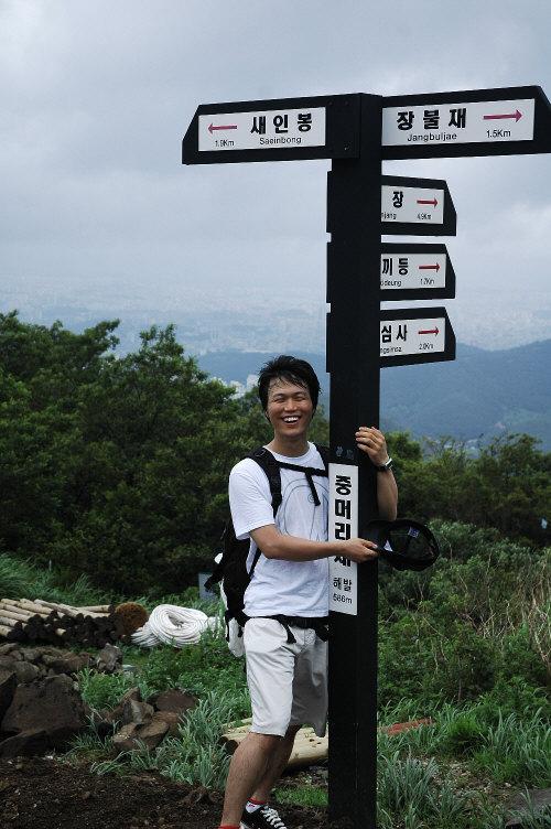 ⓒ채수민    광주무등산 중머리고개에 서 있는 안태웅