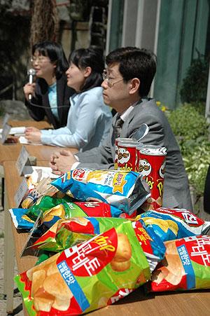 ▲ 아크릴아마이드 함량이 높은 감자칩 종류들.ⓒ 현대건강신문